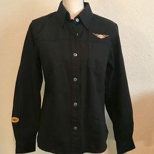 Harley-Davidson embroidered jacket/blouse - EUC